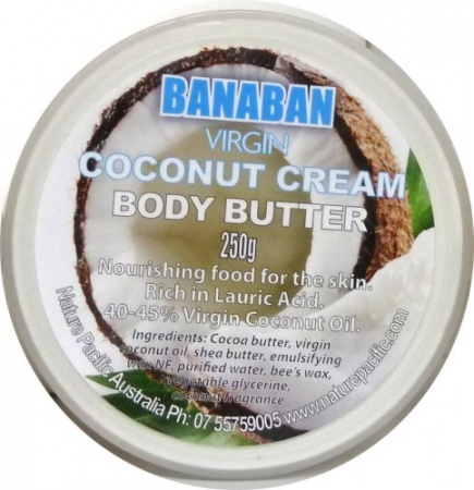 this body butter is rich in lauric acid and is made from pure virgin coconut oil
