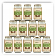 Bulk 12 x 1 Litre Organic Extra Virgin Coconut Oil in Glass